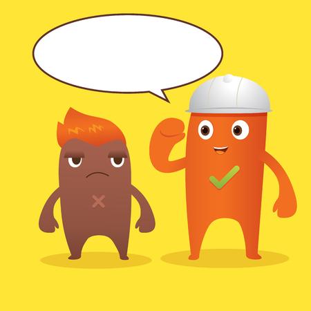 buddy: Brown and orange monster cartoon character
