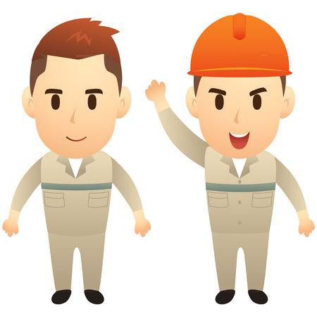 metier: Engineer cartoon character