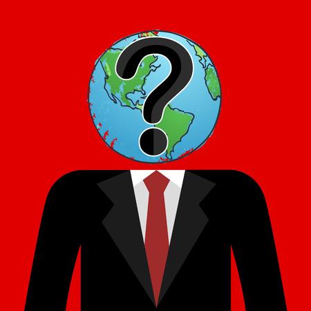 wonder: Businessman with world and wonder