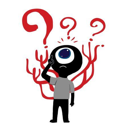 big eye: Big eye man confusing