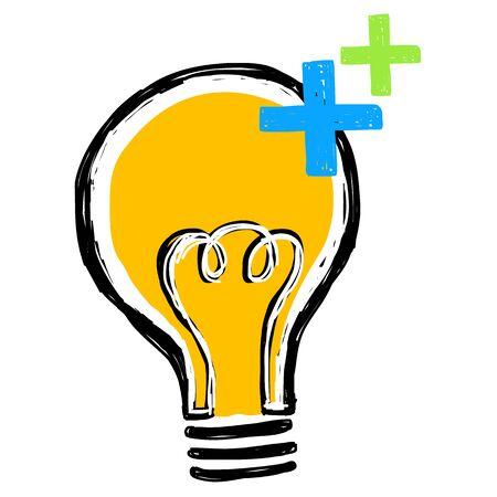 purgative: Light bulb with plus attitude