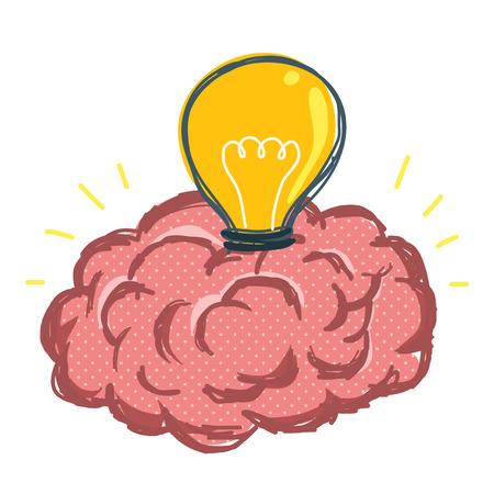 purgative: Brain and light bulb