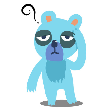 Boring blue bear