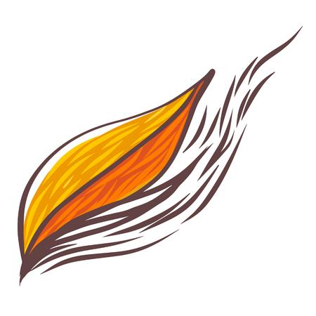 pring: Line art of leaf
