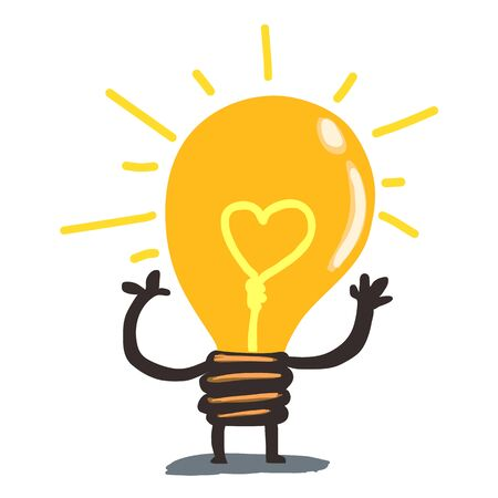 purgative: Light bulb mascot Illustration