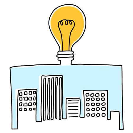 city live: City light Illustration