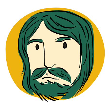 weary: Green Mustache Man
