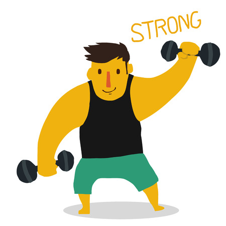 strong: Strong man Illustration