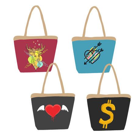 valise: Colorful handbag