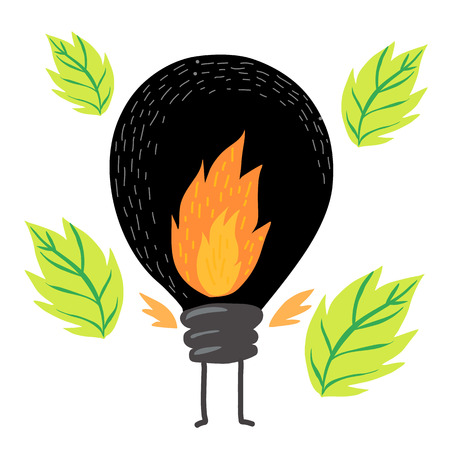 mirk: Black bulb and green leafs