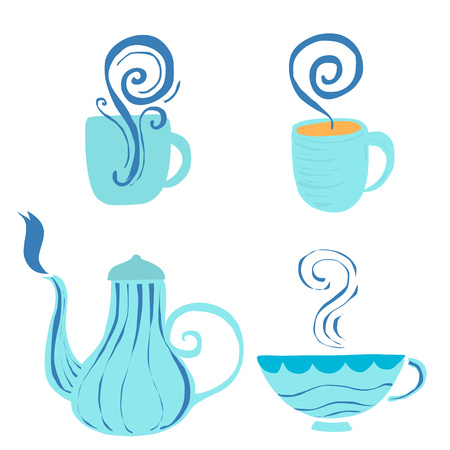 bar ware: Art of tea accessories Illustration