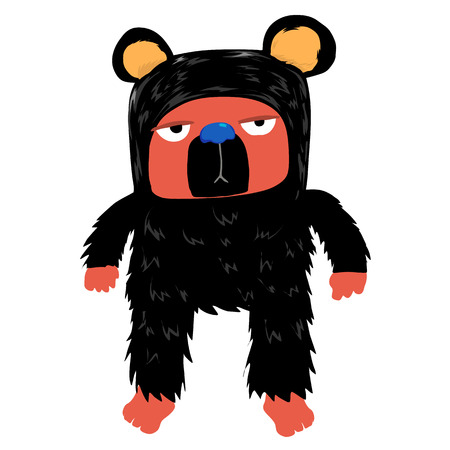 Black bear with boring face