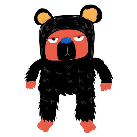 boring: Black bear with boring face