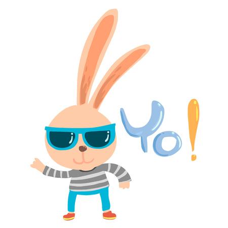 Rapper rabbit cartoon character