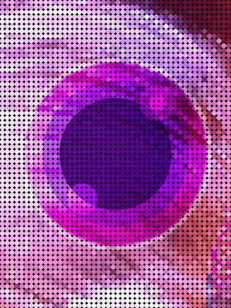 Purple screen dot with multi circle