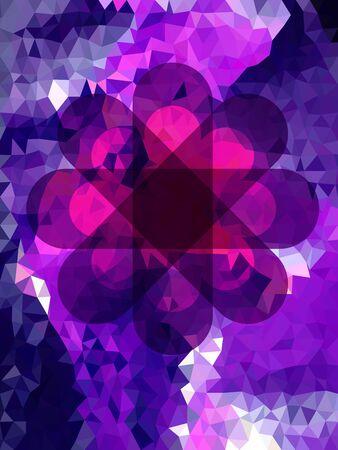 The asterisk on violet geometric pattern Çizim