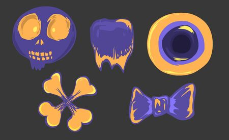 Violet and yellow color of Halloween item