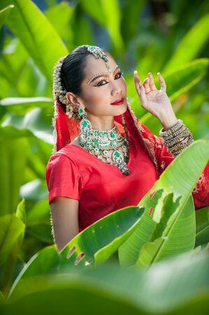 india woman: An elegant india woman Stock Photo