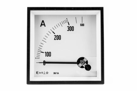 voltmeter: Panel ammeter 3005 A, 96 x 96 mm overscale 600 A