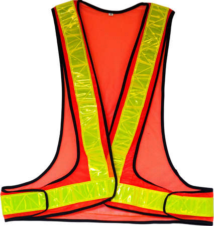 warning vest: The personal safety equipment,  Safety sign in the outdoor area