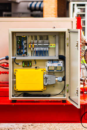 electric system: The electrical panel for wireless remote control on movable machine