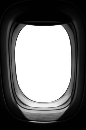 Blank air plane window for create opject photo