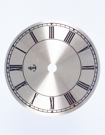 Clock face isolated on whit background photo