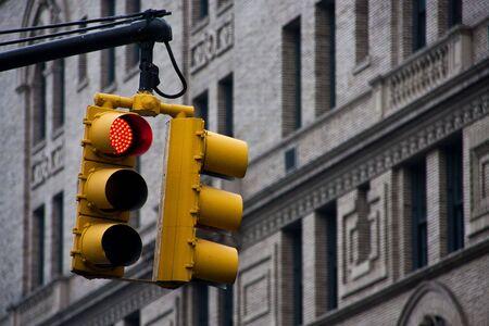 red traffic light: Red Light Stock Photo