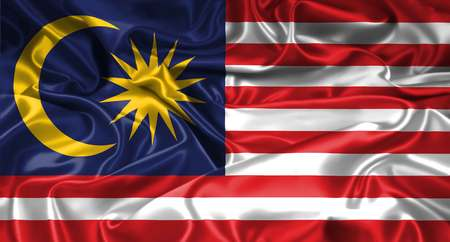 Malaysian flag background, Malaysia flag waving with the wind