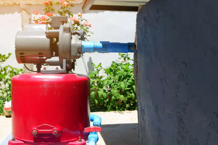 Installation motor of Automatic high pressure water pump For deep water suction with well.