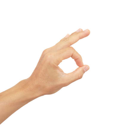 hand signals of man show gestures isolated on white background