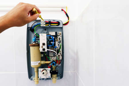 Check the electricity while install the water heater Before activation