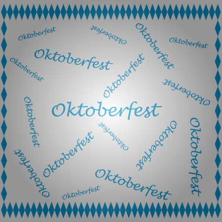 oktoberfest text pattern background with flag striped