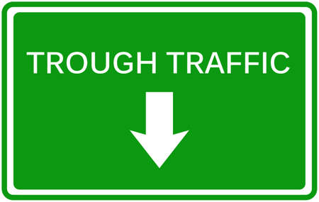 trough traffic sign of car for warn symbol Car straight away in vector