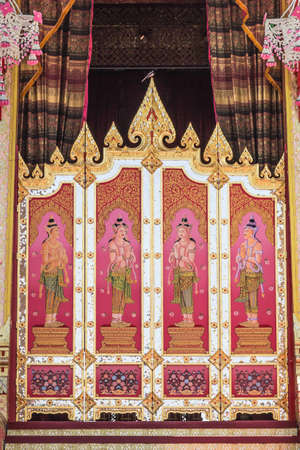 rajasuda: The Door Thai style painting art at the Royal Cremation Ceremony of princess her royal highness princess bejaratana
