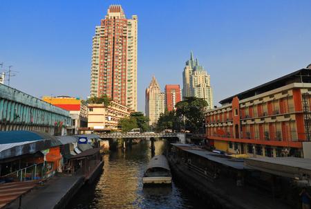 tha: Tha Pratunam, Bangkok,Thailand Editorial
