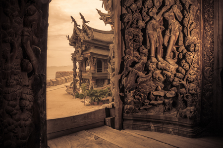 carvings: sanctuary of truth pattaya,Thailand