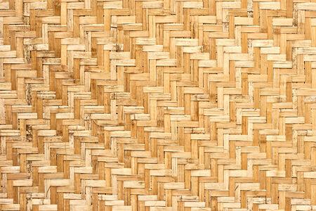 wickerwork: pattern of thai style wickerwork made from bamboo Stock Photo