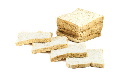 Bread wheat slice isolated on white background