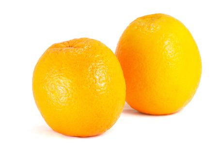 Fresh ripe orange isolated on white background