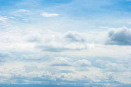 Beautiful white cloud on blue sky background Stock Photo