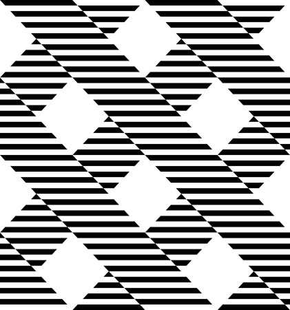 Black and white geometric stripe seamless pattern abstract background