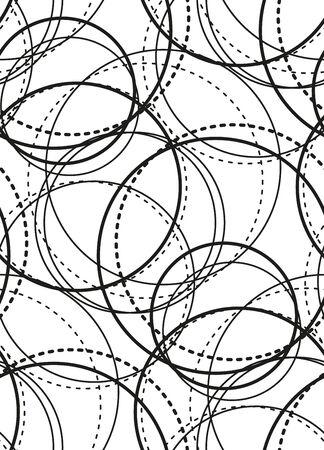 Black and white geometric circle seamless pattern Vector