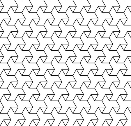 Black and white geometric seamless pattern with line and triangle Illustration