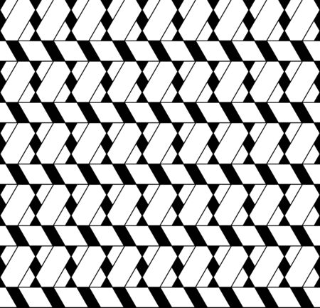 trapezoid: Black and white geometric seamless pattern with line, rhombus, trapezoid and triangle