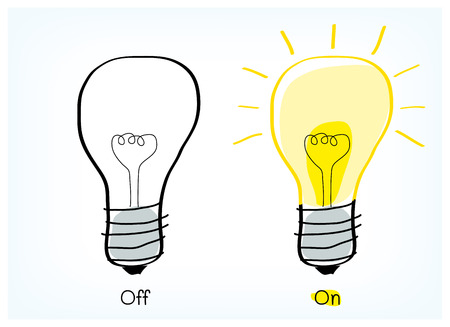 On and off light bulb idea vector