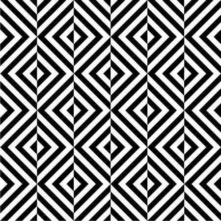 Black and white geometric square seamless pattern Vector