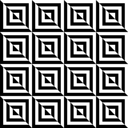 Black and white geometric square seamless pattern Illustration