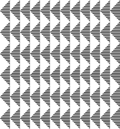 Black and white geometric seamless pattern with stripe and triangle abstract background Vector