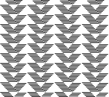 trapezoid: Black and white geometric seamless pattern with stripe and triangle abstract background, vector.